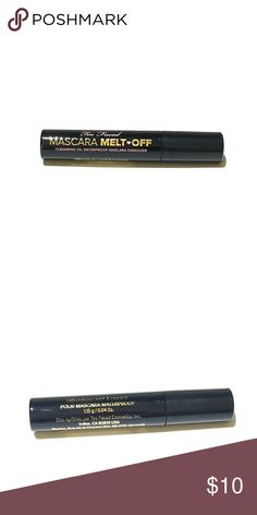 Too Faced Mascara Melt Off Brand New || Deluxe Size .04 oz || Too Faced Mascara Melt Off  Remove every trace of both waterproof and regular mascara with this extremely effective, yet gentle remover. The precision wand coats lashes base-to-tip with Too Faced's conditioning, oil-based formula - gently dissolving even the most stubborn waterproof mascara. Too Faced Makeup
