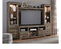 Love the rustic, masculine wood finish! I feel like this would be the perfect addition to a man cave or media room where dad loves to hang out!