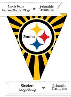 Pittsburgh Steelers Pennant Banner Flag from PrintableTreats.com