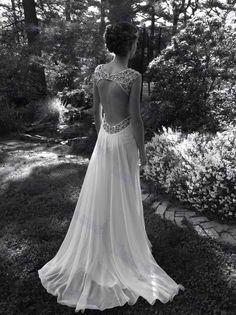 2014 Sexy Style Manual dresses sleeveless deep v neck and backless beaded sequins wedding dresses Lace satin Custom Made Prom Gowns on Etsy, $336.90 CAD