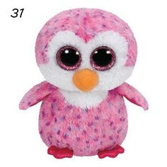 TY Beanie Boo Plush - Glider the Pink Penguin This tall soft toy makes a great addition to any Beanie Boos collection and is suitable for kids aged three and up. Beanie Babies, Ty Babies, Baby Kids, Plush Animals, Baby Animals, Stuffed Animals, Squishies, Ty Beanie Boos Collection, Ty Peluche
