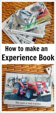 Learn how to make and use an experience book to boost language and literacy skills in toddlers, preschoolers, and children with language disorders. This would be good for attention-seeking replacement behaviors as well as language development. Preschool Literacy, Literacy Skills, Early Literacy, Literacy Activities, In Kindergarten, Preschool Activities, Montessori, Reggio, Language Development