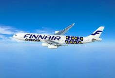 Finnair and the Finnish design house Marimekko are teaming up to enhance the Finnair air travel experience with a new design partnership. This Airbus aircraft is wearing Marimekko's legendary Unikko pattern as its livery!