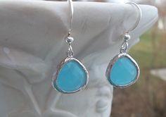 Blue Dangle Earrings  Earrings  Robins Egg by YouniquelyElegant, $26.00 #earrings, #jewelry, #dangleearrings
