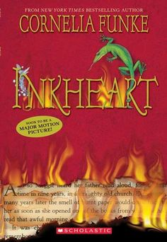 "JFIC Inkheart (Inkworld, #1), 2005. Twelve-year-old Meggie learns that her father, who repairs and binds books for a living, can ""read"" fictional characters to life when one of those characters abducts them and tries to force him into service."
