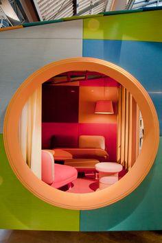 Werner Aisslinger creates upholstered hut for Kvadrat's Garden of Wonders display stand