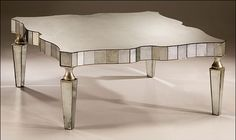 Antique mirrored coffee table - Mirrored Furniture