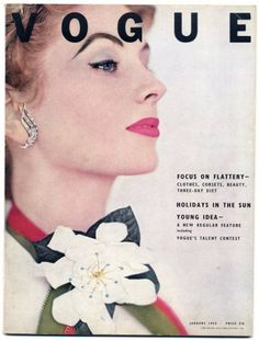 British Vogue January 1953 Suzy Parker by Horst