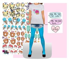 """""""Kawaii Candy Cute"""" by scarebabygifts ❤ liked on Polyvore featuring Nail Pop, Azules, rag & bone, women's clothing, women's fashion, women, female, woman, misses and juniors"""