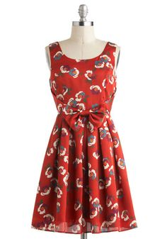 Flower Couple Dress in Rust, #ModCloth