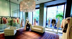 Inside Valentino on Rodeo Drive.