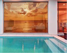 XXL FensterBild Tropical Sunset