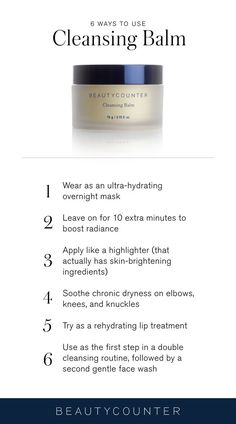 Packed with nourishing butters, oils, and vitamins, it's a best-selling facial cleanser and makeup-remover for good reason. But we've found plenty of other uses for its ultra-hydrating super powers, too. Try these six surprising ways to get the most out of your Cleansing Balm.