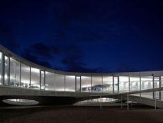 Rolex Learning Center, Lausanne, Switzerland, Japanese architects Kazuyo Sejima and Ryue Nishizawa of Sanaa Architecture. Tokyo Architecture, Education Architecture, Japanese Architecture, Concept Architecture, Architecture Design, Japan Design, Rolex, Lausanne, Ryue Nishizawa