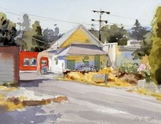 """Taqueria by Mike Kowalski Watercolor ~ 7"""" x 10"""""""