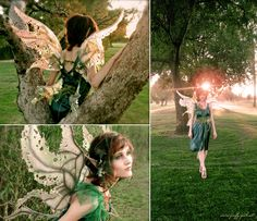 Weeping Willow Tree Fairy by ~Lillyxandra on deviantART  I love the airy look of the winges! They won't get her off the ground, but they look great!