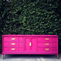 PORTFOLIO Hot Pink Dressers by theHouseofWillow on Etsy https://www.etsy.com/listing/179492294/portfolio-hot-pink-dressers