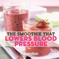 One seriously delicious way to lower your blood pressure. #bloodpressure #smoothie High Blood Pressure Diet, Natural Blood Pressure, Blood Pressure Chart, Healthy Blood Pressure, Blood Pressure Remedies, Lowering Blood Pressure Naturally, Healthy Smoothies, Healthy Drinks, Vitamins