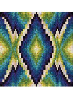 Pieced Lap Quilt & Throw Patterns - Graceful Beauty Quilt Pattern