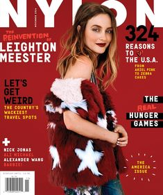 Our November cover star is Leighton Meester