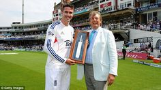 Kevin Pietersen was presented with a silver bat on the Oval outfield at lunch on Friday to celebrate him becoming England's top run scorer in all formats. Pietersen has scored 13,320 runs in Tests, one-day internationals and Twenty20 internationals since making his England debut in 2004. He is second in the list of England Test centurions with 23, behind his current captain Alastair Cook, who has 25. Kevin Pietersen, Alastair Cook, England Top, Cricket, Friday, Lunch, Running, Celebrities, Coat