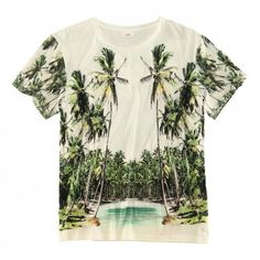 Hawaii-Feeling mit H&M for Water ❤ liked on Polyvore featuring tops, t-shirts, shirts, tees, t shirts, h&m tops, shirts & tops, h&m and h&m t-shirts