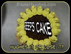 What did the #peep say when he crossed the road? Eat me. This is an all chocolate cake with #chocolate icing covered in chocolate chips. You in? -Hughes it or Lose it?