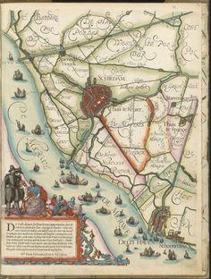 Beschrijving Kaartboek van de hoogheemraadschappen van Rijnland, Delfland, Schieland, gemeten en in kaart gebracht door Floris Balthasar. 1615