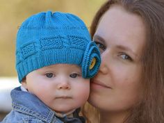 Azure Twist Flower ... by Tanya Matsiuk | Knitting Pattern - Looking for your next project? You're going to love Azure Twist Flower Baby Hat by designer Tanya Matsiuk. - via @Craftsy