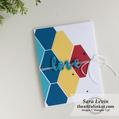 Handmade Autism Awareness card. Sara Levin   theartfulinker.com Click the picture to see more of Sara's Designs.   #autismawareness #handmadecards #tailoredtagpunch #rubberstamps #cardmaking #stampinup #stamping #saralevin #theartfulinker