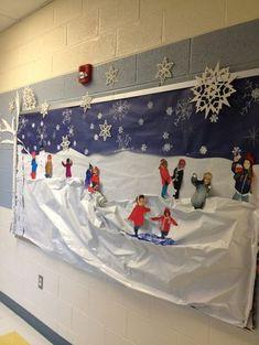 36 Ideas Teacher Door Decorations Winter Bulletin Boards For 2019 Teacher Door Decorations, Christmas Door Decorations, School Decorations, Classroom Decor, Snow Decorations, Christmas Ideas, Winter Crafts For Kids, Winter Kids, Winter Art