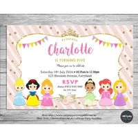 Princess Personalised Invitation - Printed