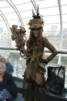 Steampunk cosplay at Comic-Con 2012