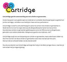GoCartridge gaat de samenwerking aan met scholen en gemeenten.