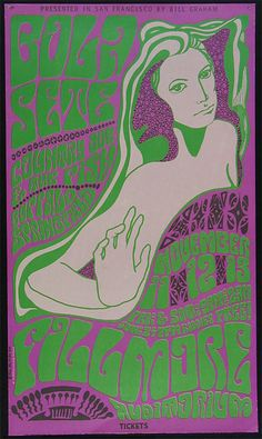"Wes Wilson's stunning poster artwork from the 1960s inspired the cover for ""The Dark Lily""."
