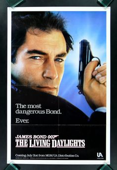 """Timothy Dalton makes his debut as James Bond """"007"""" in The Living Daylights…"""