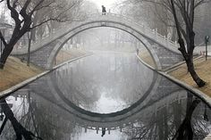 Canal Moon Bridge. The Netherlands
