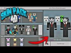 Skin Pack 4D Para Minecraft    Skins 4D De Anonymous    Skin Pack 4D 1.5 1.6.0.5 Minecraft Skins 4d, Anonymous, Packing, Bag Packaging