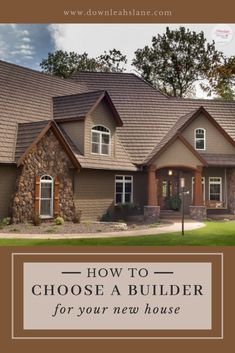 Choosing a Builder for Your New House. - Down Leah's Lane French Country Exterior, Modern French Country, Modern Farmhouse Design, Modern Farmhouse Exterior, Building A House Checklist, Building A New Home, House Building, Tudor Style Homes, Craftsman Style Homes