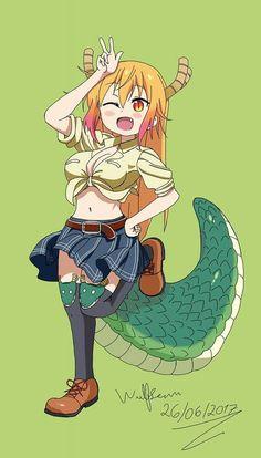 Chibi monster musume cosplay of dbz dragon shinron