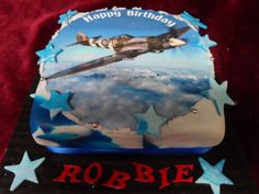 www.frescofoods.co.nz occasion cakes in Auckland New Zealand Spitfire Aircraft themed cake