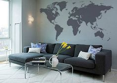 Antarctica text world map decal office decor map decals pinterest 50 shades of grey inspired bedroom accessories world map wall decalwall gumiabroncs Image collections