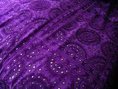 purple bedspread~