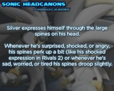 ☆ Sonic Headcanons ☆- Like a cat with their ears and tail, that's what happens to a hedgehog when it spends to much time with a cat - lol