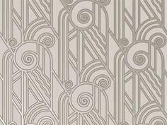 Art Deco Textiles - Wallpaper 'Platinum Volute' found on Art Deco Style The Ultimate Guide to Art Deco Art Deco Wallpaper, Modern Wallpaper, Of Wallpaper, Wallpaper Stairs, Eclectic Wallpaper, Silver Wallpaper, Homescreen Wallpaper, Wallpaper Designs, Fabric Wallpaper