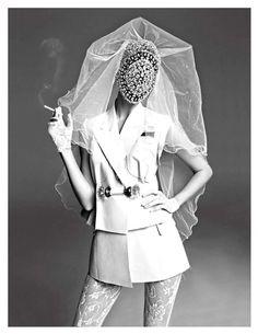 Kati Nescher | VOGUE PARIS November 2012 | by Inez & Vinoodh