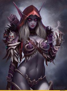 Prywinko,artist,Sylvanas Windrunner,Warcraft,Blizzard,Blizzard Entertainment,фэндомы,World of Warcraft,Warcraft ero