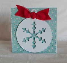 Christmas Card Set TEN Greeting Cards Blue and Red Snowflake Style 13 Homemade Christmas Cards, Christmas Gift Tags, Christmas Greeting Cards, Christmas Greetings, Greeting Cards Handmade, Homemade Cards, Handmade Christmas, Holiday Cards, Christmas Crafts