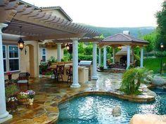#custom #stone #swimming #pool