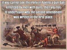 Our RIGHT to own firearms for PROTECTION GIVEN BY GOD.  It's our SECOND AMENDMENT because it's not given to us by the government, if it was-they could take it back. Because it's a God-given RIGHT it can NEVER BE TAKEN AWAY